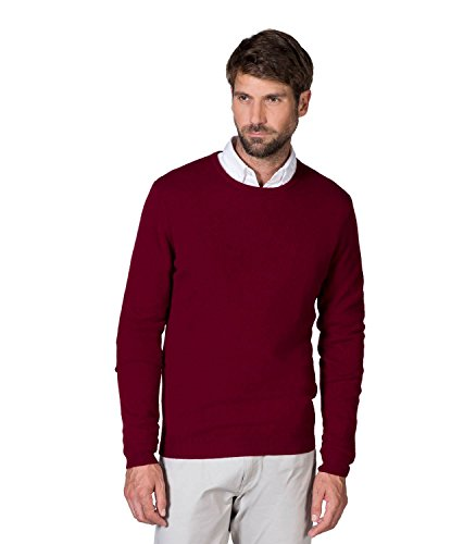WoolOvers Nouveau pull à col rond - Homme - Cachemire Berry