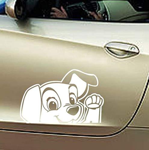 limicry 2 Stücke Niedlichen Hund wasserdichte Auto Aufkleber Auto Styling Aufkleber Price14 * 10Cm