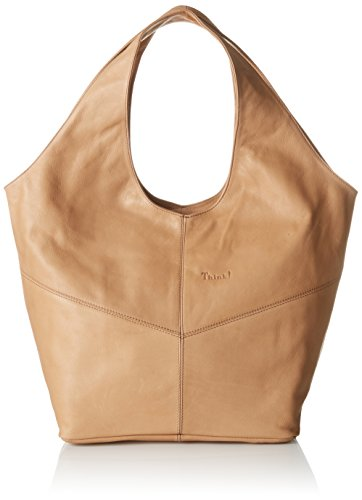 Think!  Think! Bag, sac bandoulière femme - beige - Beige (Sand 38), 17x33x43 cm (B x H x T)
