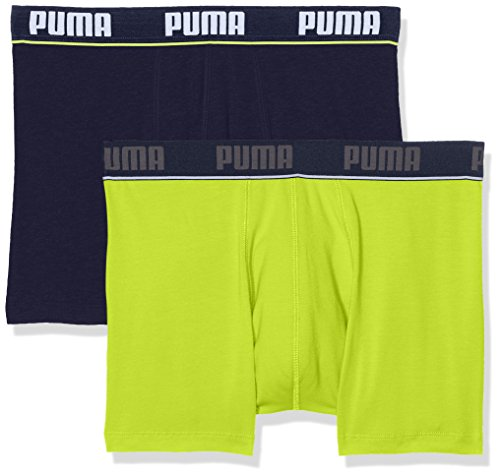 Puma Herren Basic Boxer New Waistband 2p Unterhose Lime Punch