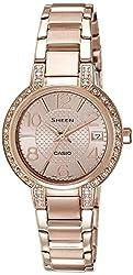 Casio Sheen Analog Gold Dial Women's Watch - SHE-4804PG-9AUDR (SX130)