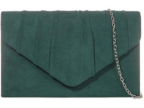 fi9®, Poschette giorno donna nero Black M Spruce Green