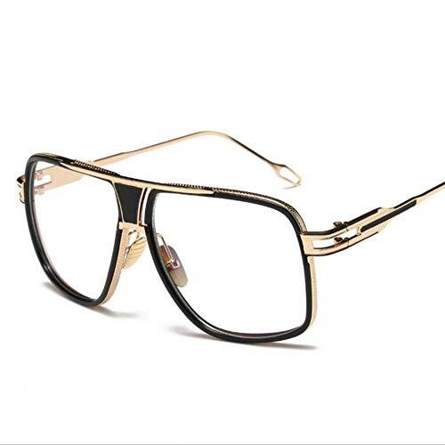 Wenkang Herren Sonnenbrille Designer Männlich Driving Oversized Gold Sonnenbrille Frauen Shades Männlich Flat Top,10