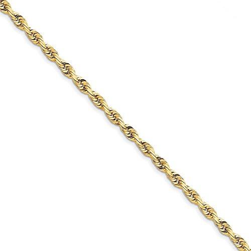 10K 5,0mm diamantiert Quadruple Seil Kette Armband–20cm–Höhere Gold Grade als 9ct Go (10k Gold Armband 5mm)
