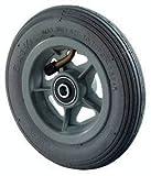 BSRollen Luftbereiftes Rad, Gummi grau, Durchm. 150 mm, Traglast 60 kg, Kugellager