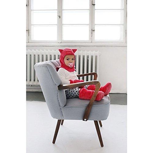 MayLily® Premium | SUPERCAT Haut Chaussures d'hiver Mignons et Chauds pour Bébé tout-petit | 3-12 mois | 100% original Minky | Remplissage antiallergique | Fabriqué en UE | Love Gris LOVE Rose