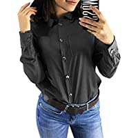 Büro Frauen Langarm Shirt Vintage Bluse Damen Pullover Shirt Tops Slim Fit