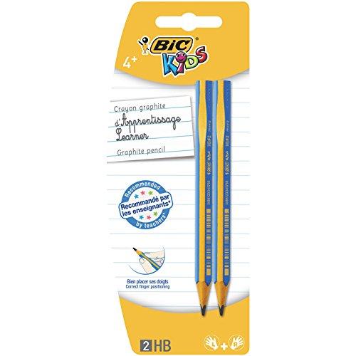 BIC Kids Evolution - Lapicero triangular para aprender a escribir (HB, 2 unidades),clasificado