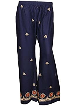 Indistar Regular Fit Women Blue Trousers