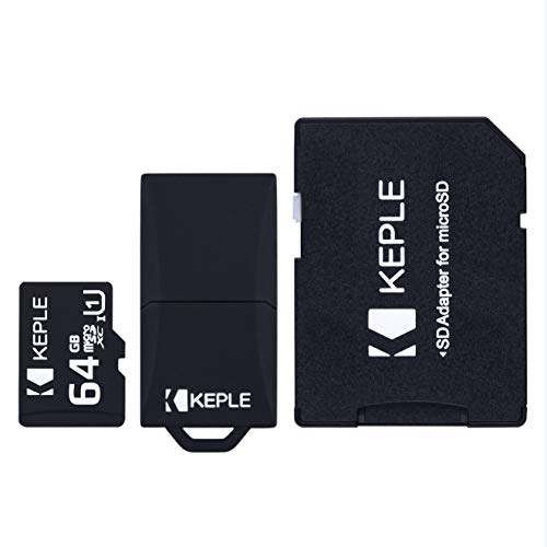 Tarjeta de Memoria Micro SD 64GB de Keple | MicroSD Class 10 para Huawei P8 / Lite, P9, P20, 7X, 7C, 7A, Y3, Y5, Y6, Y7,Y9 P Smart, Honor 9 Lite, V8, 8 Pro, 6A, Mate 9, Enjoy 6 Movil | 64 GB