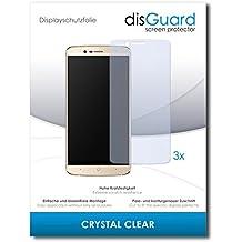 3 x disGuard Crystal Clear Lámina de protección para Elephone P8000 4G / P-8000 4G - ¡Protección de pantalla cristalina con recubrimiento duro! CALIDAD PREMIUM - Made in Germany
