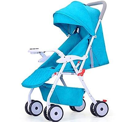 TYUE Cochecito de bebé, Cochecito Ligero fácil Plegable Cochecito Puede Sentarse reclinable Cochecito de bebé Invierno y Verano Paraguas de Doble Uso