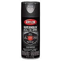 Krylon Supermaxx Paint 12Oz-Black Hammered