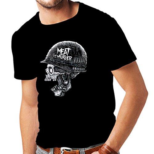 lepni.me N4329 Männer T-Shirt Schädel mit Helm (XXXX-Large Schwarz Mehrfarben)