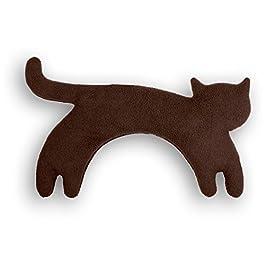 Leschi | Cuscino riscaldabile (per la nuca) | La gatta Minina | in piedi | grande | fleece/fleece