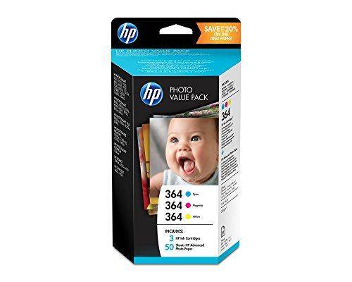 HP 364 Photo Value Pack mit Tintenpatrone und Fotopapier