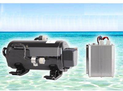 Gowe 12V Compresseur R134a Climatiseur Inverter pour Marine Militaire Camion Minier Construction lavable en bateau Cab