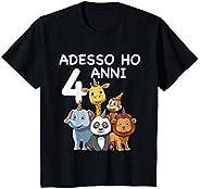 Bambino 4 Compleanno Bambini & Zoo - Regalo Di 4 Anni Magli