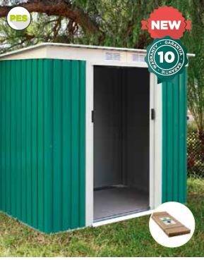 Catral CASETA Metalica Garden Room Green High Door, Verde