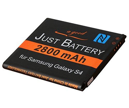 JuBaTec original Akku für Samsung Galaxy S4 LTE GT-i9505 mit NFC und 2800 mAh ersetzt EB-B600BE