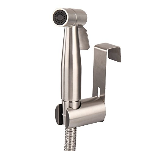 MUMENG Toilette Bad Bidet Rostfrei Edelstahl Duschkopf / Bidet Handbrause , Shattaf Bidet Douche Spray Set SUS304- Helles Silber