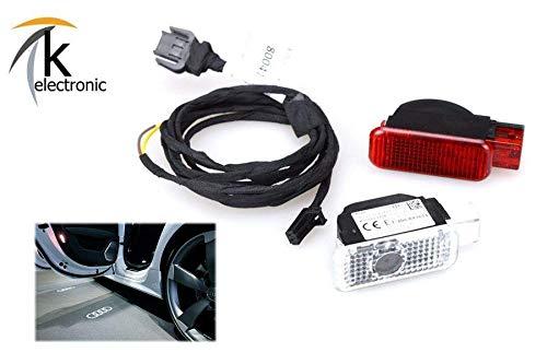 k-electronic Audi Q5 8R Türbeleuchtung Audi Ringe Ausstiegsbeleuchtung Nachrüstpaket
