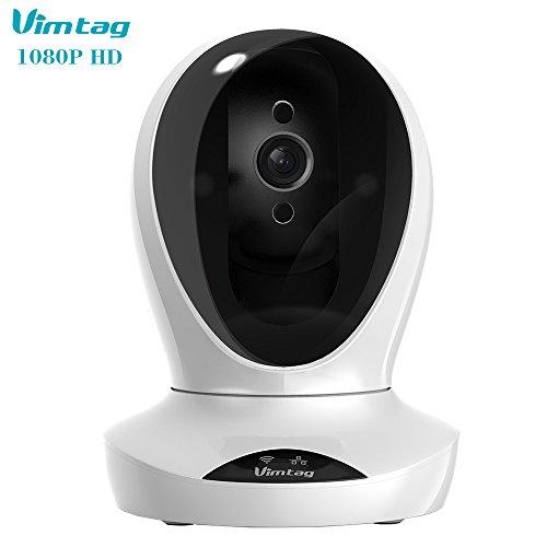 Galleria fotografica Vimtag Fencer 1080P Full HD. P1-S. Videocamera di sorveglianza Wi-Fi Cloud. Audio a due vie. Visione notturna. Pan/Tilt e rilevamento movimento con notifiche e monitoraggio sul tuo cellulare.