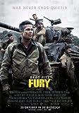 Poster Station UK Fury - Brad Pitt - Dutch Film Affiche Affiche Imprimer Image - 30.4 x 43.2cm Taille Affiche de Film