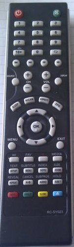Replacement REMOTE CONTROL FOR MATSUI M15DIGB19 LCD TV