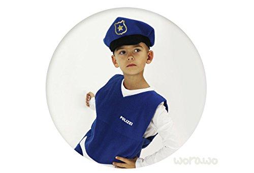 Kinderkostüm Polizist mit ()
