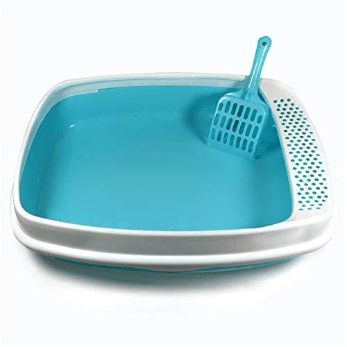 Petsmat Katzenklo Mit Haube Geschlossen + Streuschaufel Katzen Klo Wc Katzentoilette Toilette,Blue (Große Kapuzen Katzenklo)