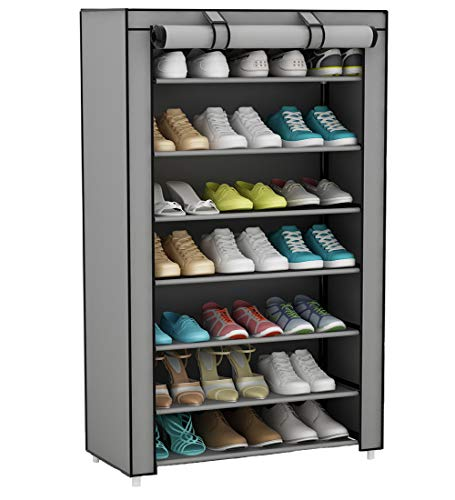 UDEAR Armario para Zapatos de Tela Shoes Rack Zapato del gabinete Zapatero...
