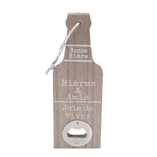 JOYfree Holz Flaschenöffner Buchstaben Muster Kreative Wandbehang Ring Bier Trinken Tragbare Werkzeug Für Barmixer Küche, Holz