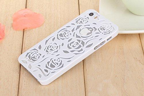 Coque iPhone Samsung Galaxy Note 3 , iNenk® Hot Summer Slim couleur modèle creux téléphone Rose rétro Shell manchon protecteur Etui PC couverture mode marée-violet Blanc