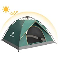 Camel Pop Up Tent Hydraulic UV Beach Tent 2-3 Man Automatic Dome Tents Family Sun Tent For Camping, Outdoor, Garden, Fishing, Picnic