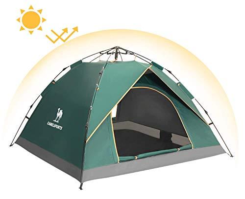 CAMEL CROWN Zelt Leichtbau Trekkingzelt Sonnenschutz 3.06KG Familienzelt, 2-Personen mit 1 Kind Für Camping Outdoor Park Feldkoch -