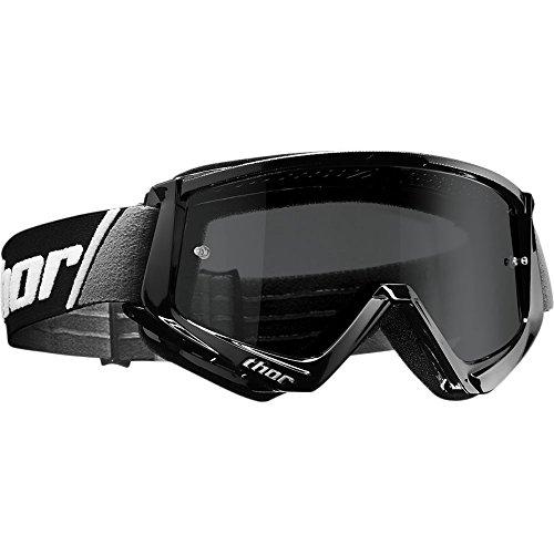 Thor Combat Sand Crossbrille schwarz Motocrossbrille Offroad Enduro Supermoto Quad MX DH SX ATV BMX MTB Motocross Cross Brille getöntes Glas