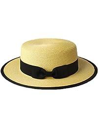 fangkuai-hat Cappello Canotier per Estate Uomo Ragazzi Donna Paglia  Contrasto Paglietta Cappelli Solare c13c3ccfe636
