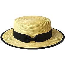 Sombrero Cordobés Verano Hombres Chicos Mujeres Paja Contraste Canotier  Sombrero ... d08219e282a