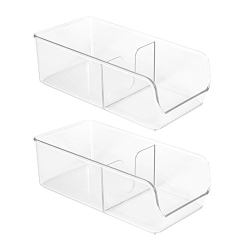 InterDesign Linus Spice Packet Organizer Bin For Kitchen Pantry, Cabinet, Countertops - Pack of 2, Clear