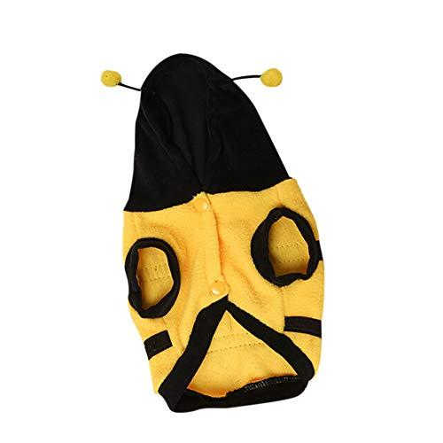 FORMEG Hundekleidung Haustier Hundekleidung Winter Katze Hundemantel Schöne Biene BekleidungParty Halloween Kostüm Für Kleine Hunde Welpen Haustiere - Kleinen Hunde Biene Kostüm