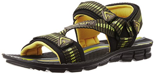 Sparx Men's Olive and Yellow Athletic & Outdoor Sandals - 9 UK (SS0901G)  available at amazon for Rs.349