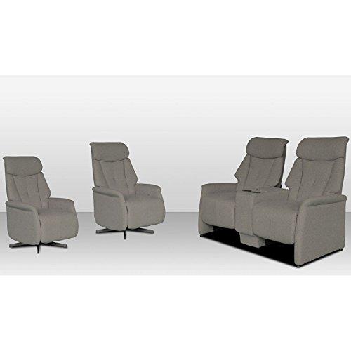 Tousmesmeubles Salon Complet Relax Home Cinéma Relax - Orion - L 145 x 87 x 107 - Neuf