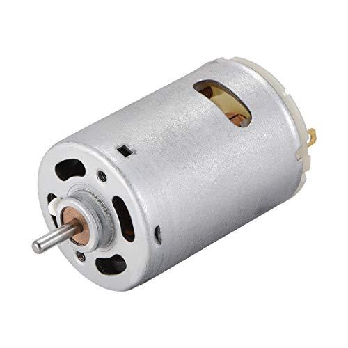 Sourcing Map DC Motor 12 V 1700 U/min Elektromotor Rundschaft für RC Boot Spielzeug Modell DIY Hobby - Elektromotor Bürsten