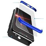 BESTCASESKIN Coque Compatible pour Samsung Galaxy Note 8 avec Protection Écran Verre Trempé Antichoc PC Housse de Protection 360 Degrés Anti Rayure 3 en 1 Étui Protecteur - Bleu Noir