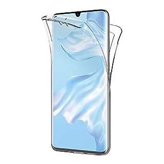 AICEK Compatible Huawei P30 Pro Hülle, 360°Full Body Transparent Silikon Schutzhülle für Huawei P30 Pro Case Durchsichtige TPU Bumper Huawei P30 Pro Handyhülle (6,47 Zoll)
