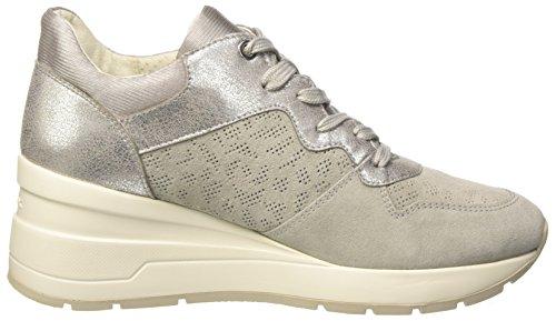 Geox Damen D Zosma C Sneaker Grau (lt Grigio)
