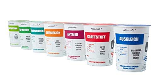 """Protein-Müsli Die glorreichen 7 """"Probierpaket"""", 7er Pack (7 x 90 g), vegan & ohne Zucker, fitmeals"""