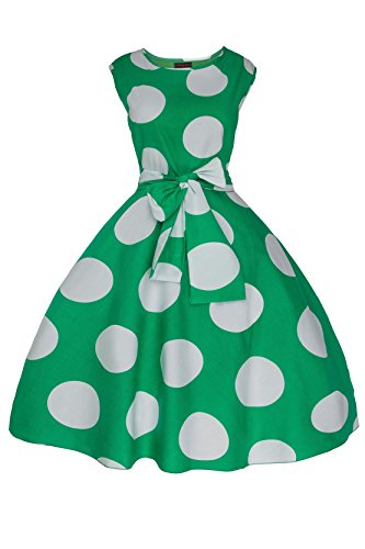 Femmes Années 1950 Rétro Vintage Pin Up Évasé Soirée Années 40 Robe En Grande Taille Vert