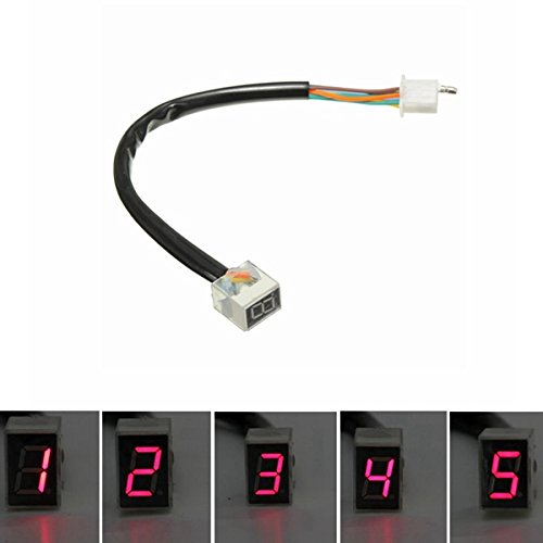Gozar led rosso universale digitale 6 ingranaggi indicatore moto display sensore leva